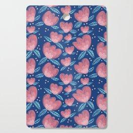 Blue Spring Blossom Print Cutting Board