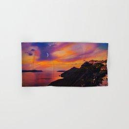 Santorini,Fira,Sunset Hand & Bath Towel