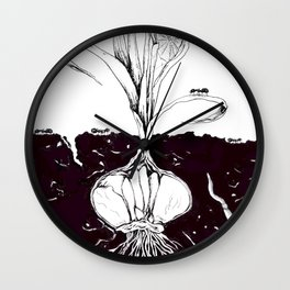 small section of the earth Wall Clock