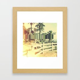 Psychedelic California Sunkissed Trees Melting Framed Art Print