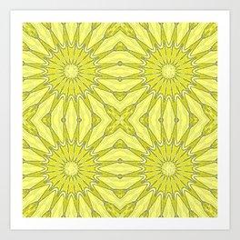 Yellow Pinwheel Flower Art Print