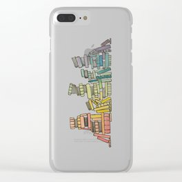 Rainbow of Books Clear iPhone Case