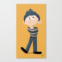 pixar Canvas Prints featuring Am I Pixar Enough Yet? by doodletome