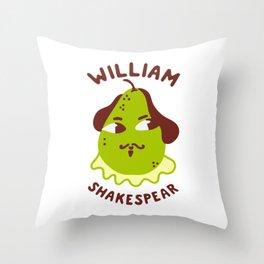 Funny William ShakesPear Throw Pillow