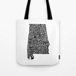 Typographic Alabama Tote Bag