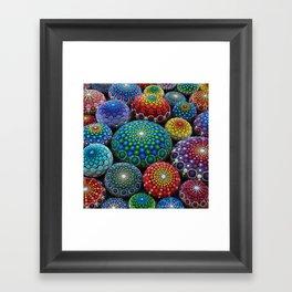 Jewel Drop Mandala Stone Collection #1 Framed Art Print