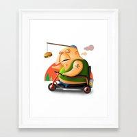 motivation Framed Art Prints featuring Motivation by Sloe Illustrations