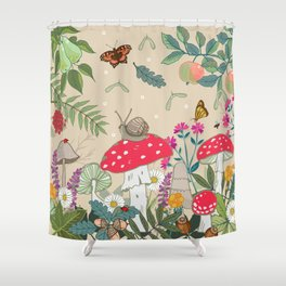 Toadstools in the Woods Shower Curtain