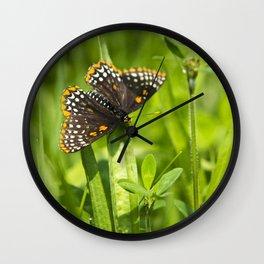 Pretty Butterfly Wall Clock
