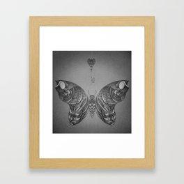 Faces Butterfly 2 Framed Art Print
