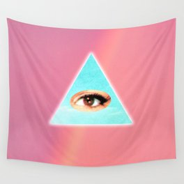 Eye see You (Pink) Wall Tapestry