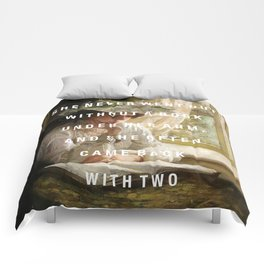 never without a book Comforters