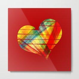 Vivid heart Metal Print