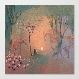 Good-bye Sun Canvas Print