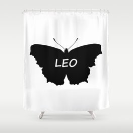Leo Butterfly Shower Curtain