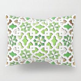oriental pattern for Kris 3 - brown, green, white  Pillow Sham