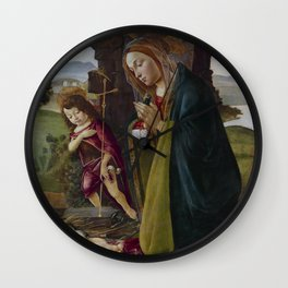 "Sandro Botticelli ""Adoration of Christ with Saint John"" Wall Clock"