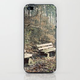 Strategically shaped logs iPhone Skin