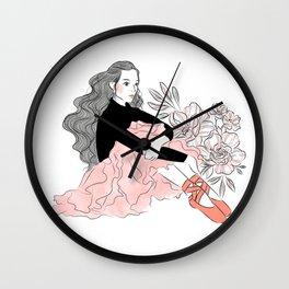 Lovely ballerina Wall Clock
