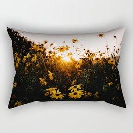California Sunshine and Flowers Rectangular Pillow