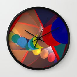 in a mirror -1- Wall Clock