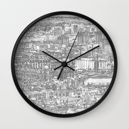 Leeds City Drawing Wall Clock