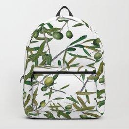 olive pattern Backpack