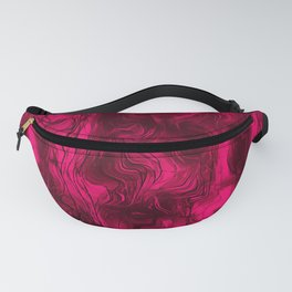Nervous Energy Grungy Abstract Art Raspberry Rust Fanny Pack