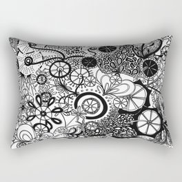 Growth in 3 Directions - Black and White Rectangular Pillow