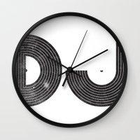 dj Wall Clocks featuring DJ by Jonah Makes Artstuff