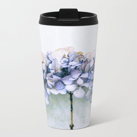 Delicate Hydrangea Metal Travel Mug