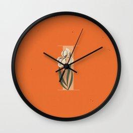 I for Iris Wall Clock