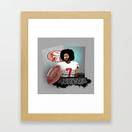 Colin Kaepernick Framed Art Print