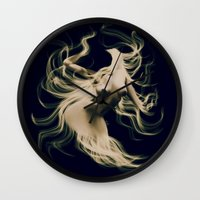 goddess Wall Clocks featuring Goddess  by    Amy Anderson