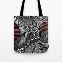 wave Tote Bags featuring Wave by Lauren Moore
