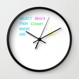 Funny SQL design for SQL programmers, DBA, and DB admins Wall Clock