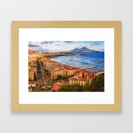 Italy, the gulf of Naples seen from the Posillipo hill Framed Art Print