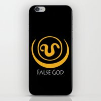 stargate iPhone & iPod Skins featuring False God. Inspired by Stargate SG1 - The symbol of Apophis as worn by Teal'c by hypergeek