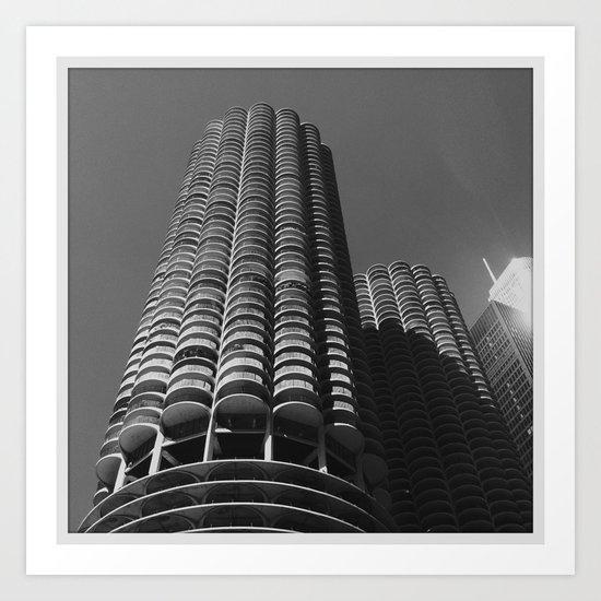 Marina Towers Art Print