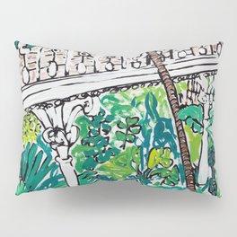 Kew Gardens Jungle Botanical Painting Greenhouse Pillow Sham