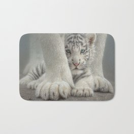 White Tiger Cub - Sheltered Bath Mat