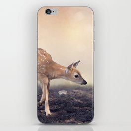 Cute White-tailed deer fawn iPhone Skin