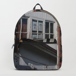 Weathered White Building Backpack