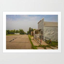 Post Office, Regan, North Dakota 4 Art Print