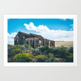Colorful Day in Bodie Art Print