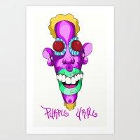 Purple Urkle Art Print