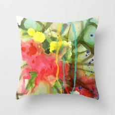 Fruity Splash Throw Pillow