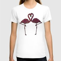 flamingos T-shirts featuring Flamingos by Ben Geiger