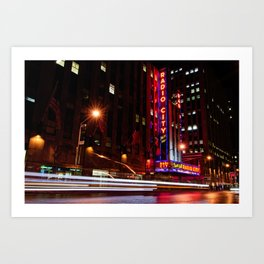 Radio City Art Print