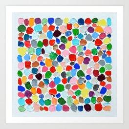 Polka Daub Pebbles Art Print
